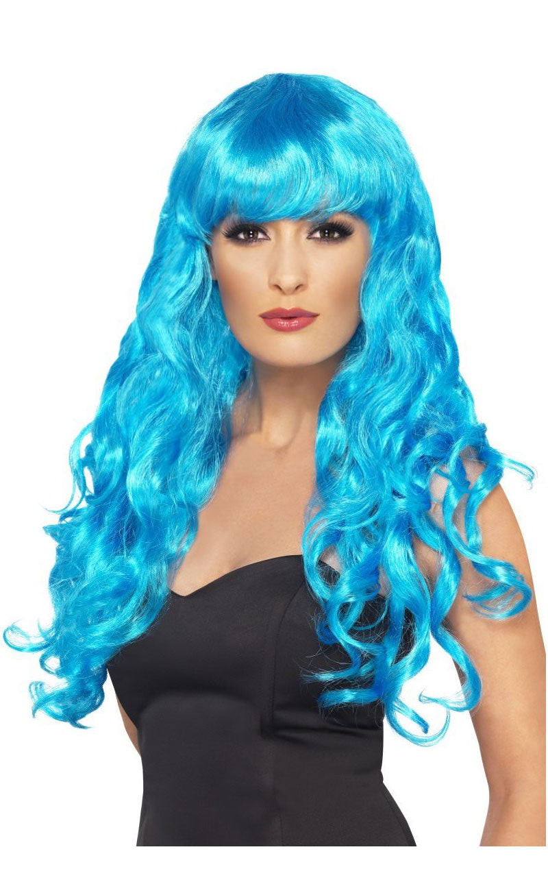 Siren Blue Long Wig