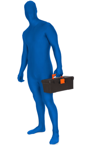 Morphsuit Blue Costume