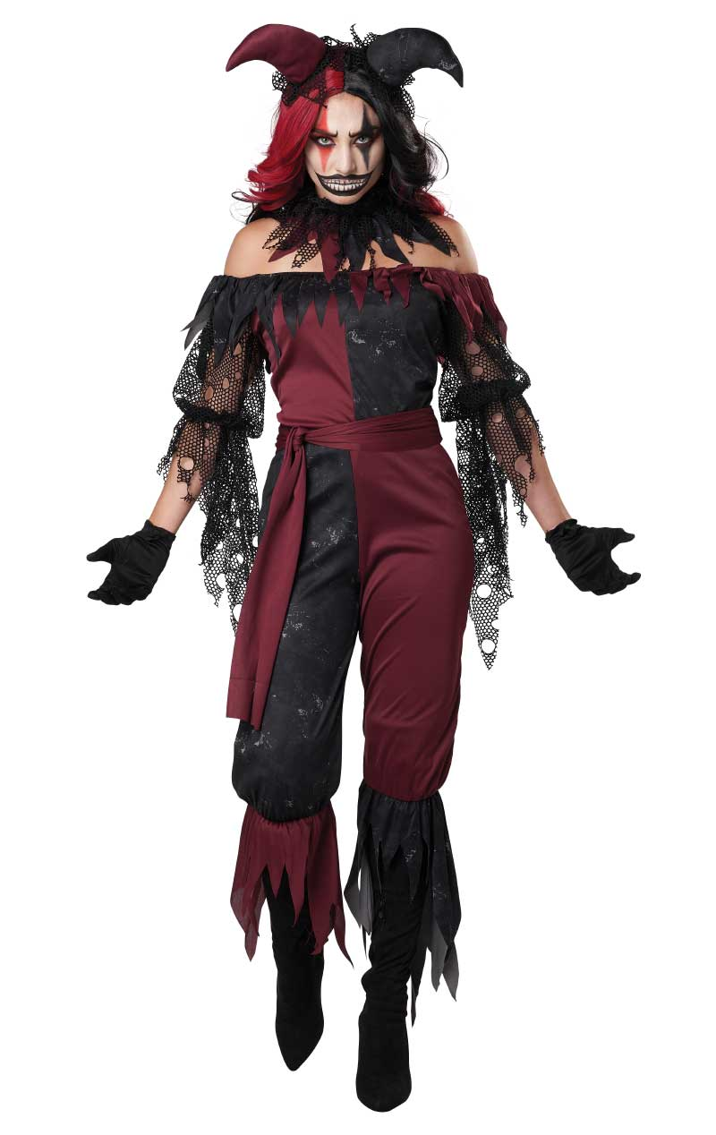 Womens Psycho Jester Costume