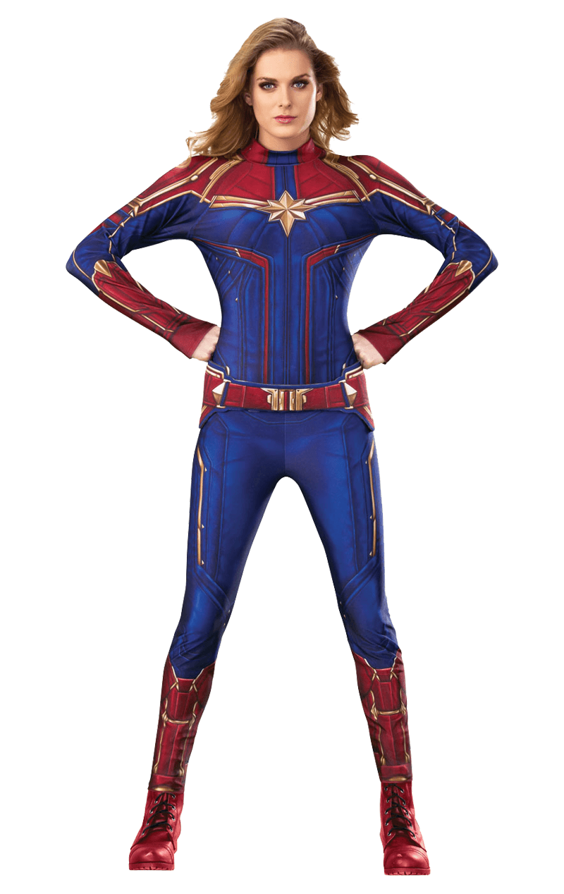 Adult Captain Marvel Avengers Costume