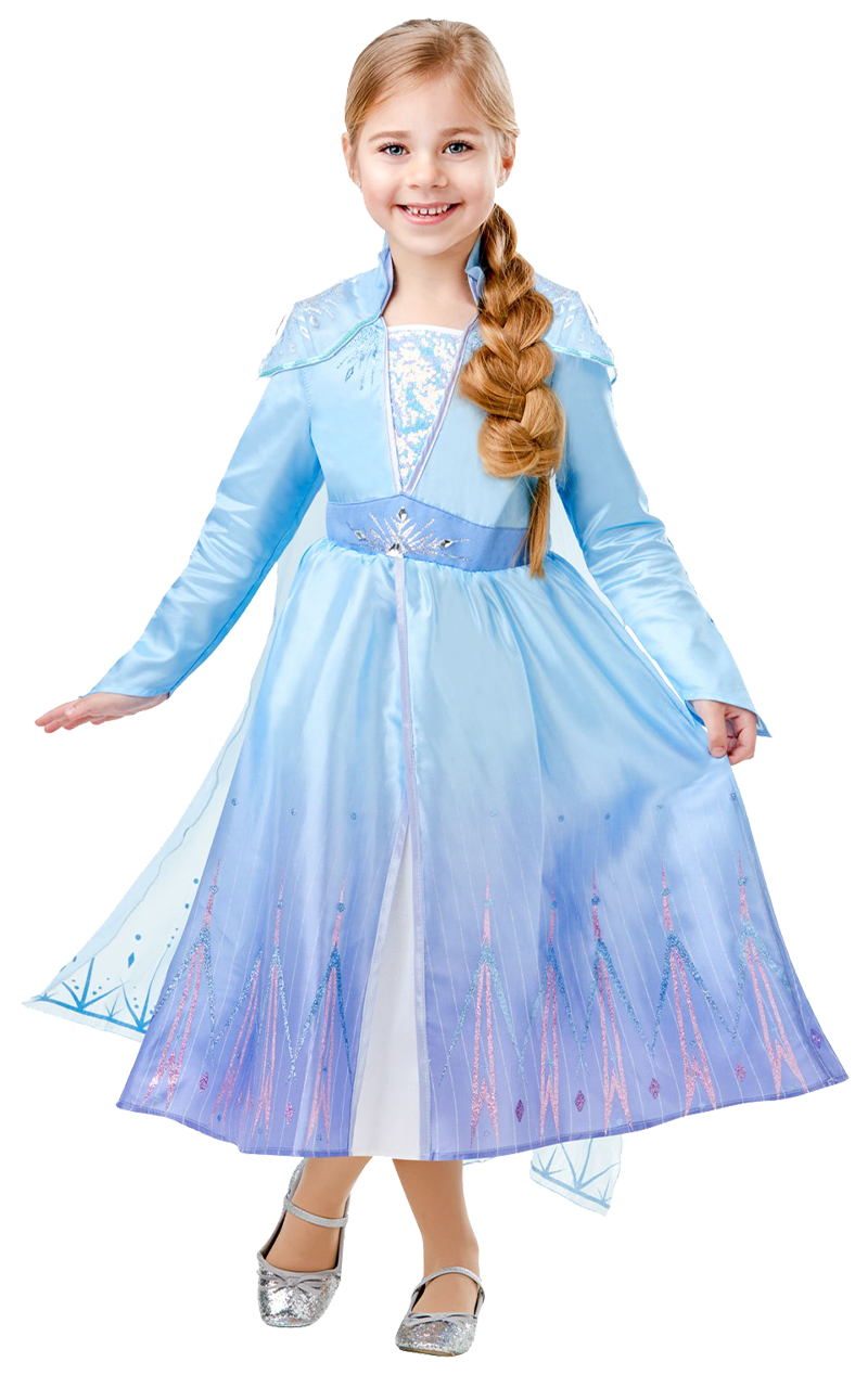 Kids Queen Elsa Frozen II Costume