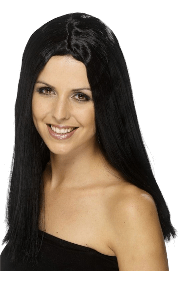 Shoulder Length Black Wig
