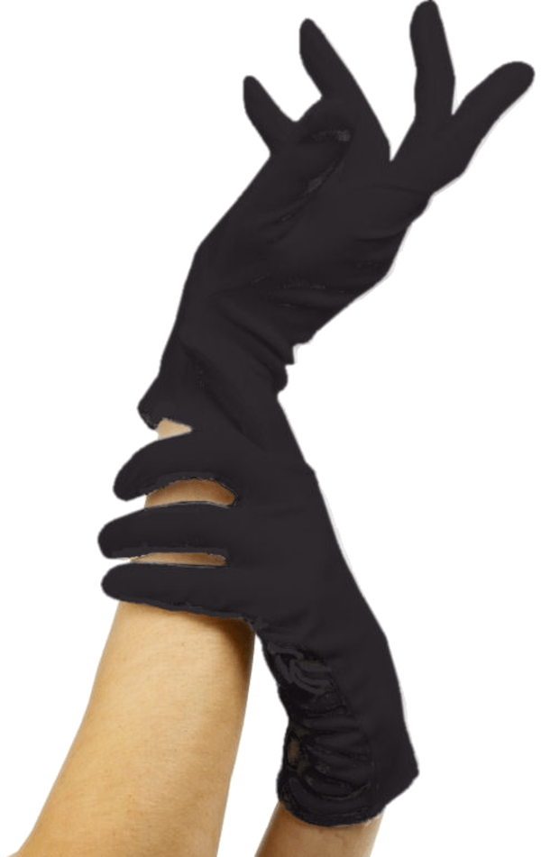Adult Black Gloves Accessory