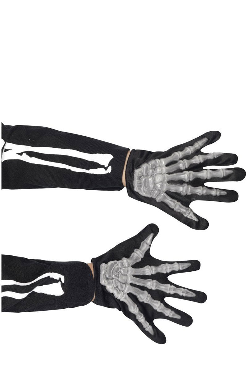 Kids Glowing Skeleton Gloves