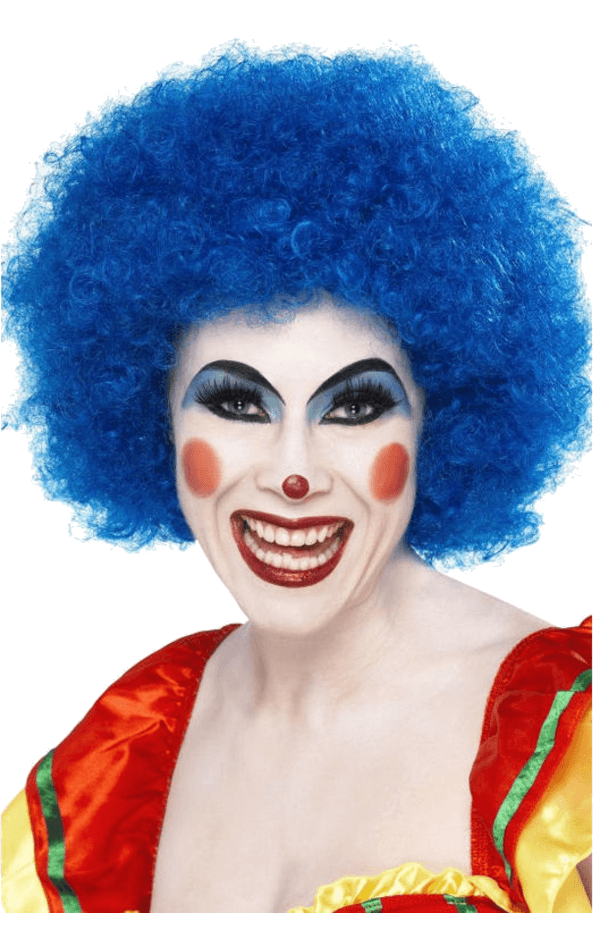 Blue Clown Afro Wig