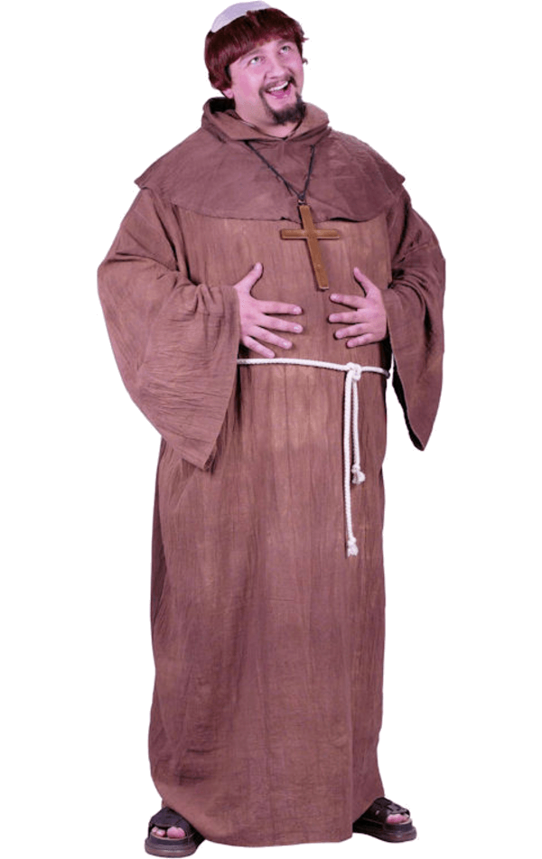 Medieval Monk Plus Size Costume