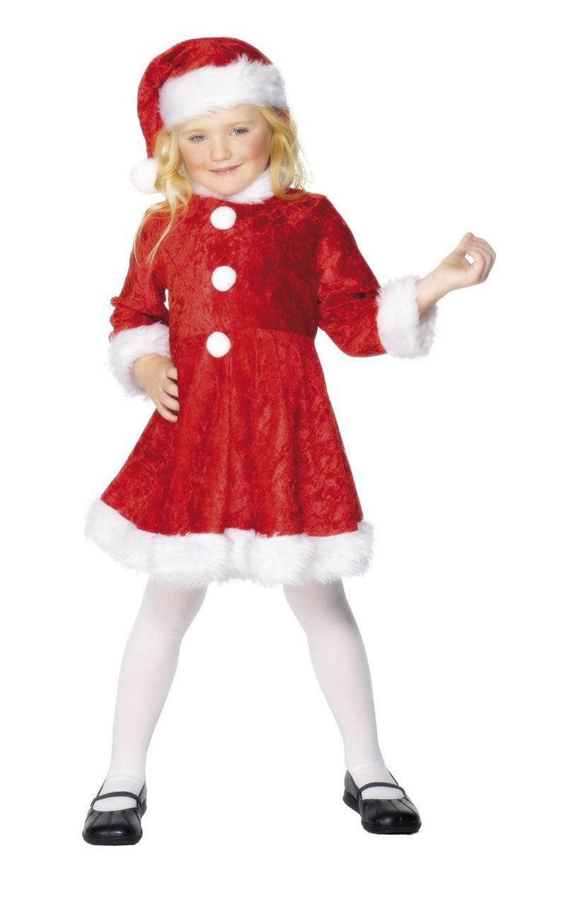 Kids Miss Santa Costume