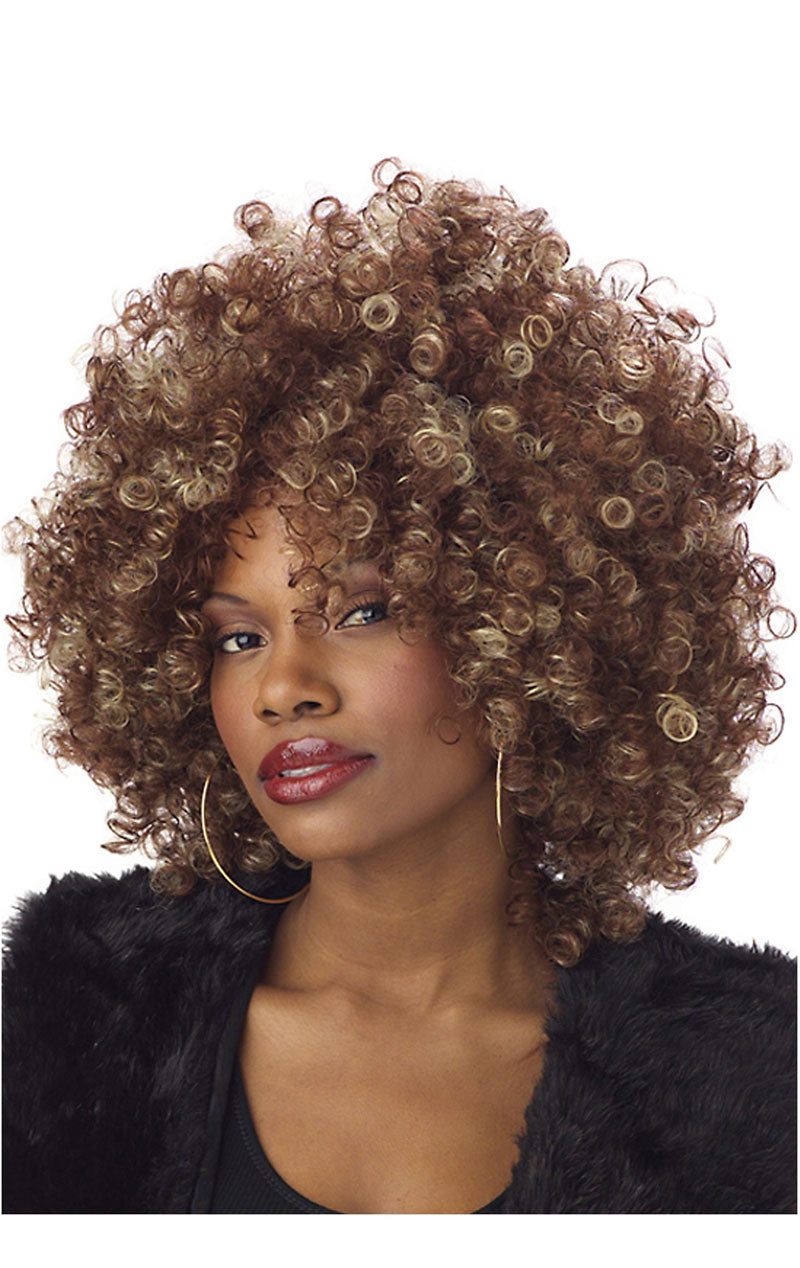 Foxy Fro Brown Afro Wig