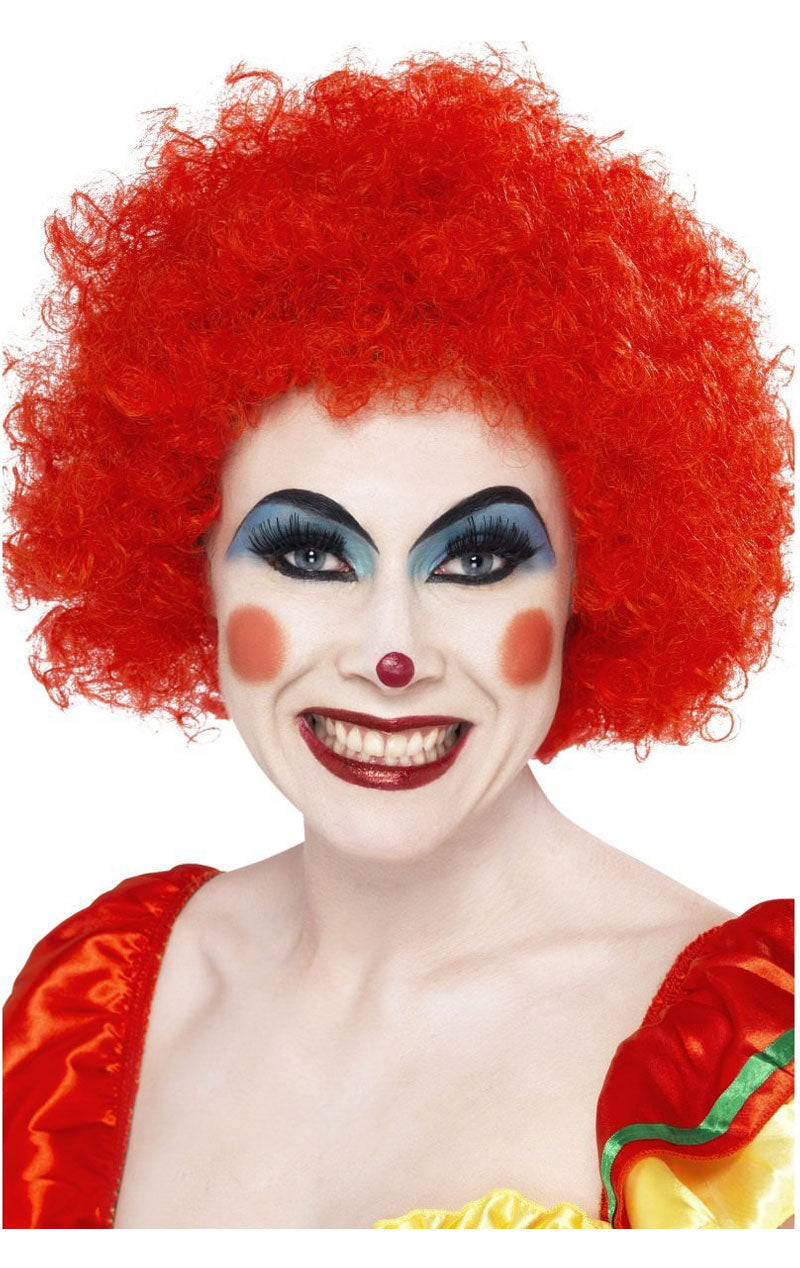 Red Clown Afro Wig