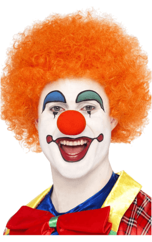 Orange Clown Afro Wig