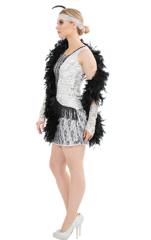 Silver Gatsby Flapper Costume