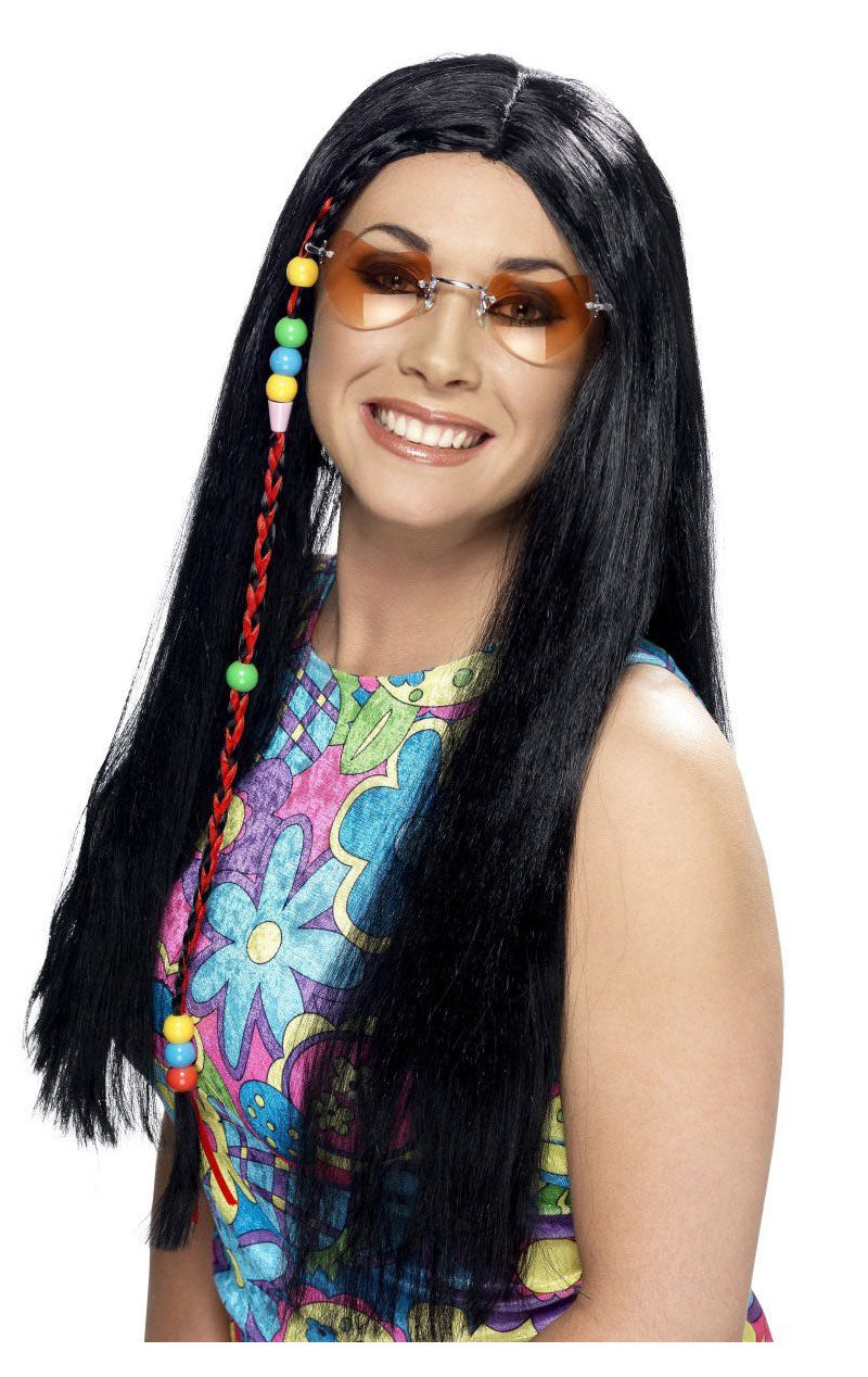 Hippie Braided Black Wig