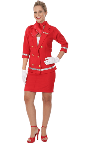 Adult Red Air Hostess Costume