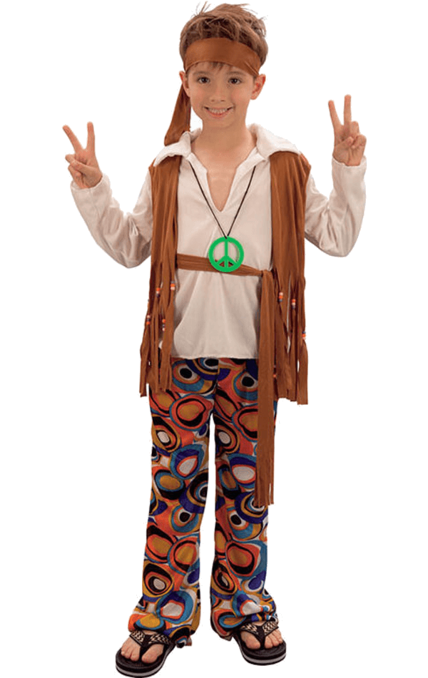 Kids Fringed Hippy Costume