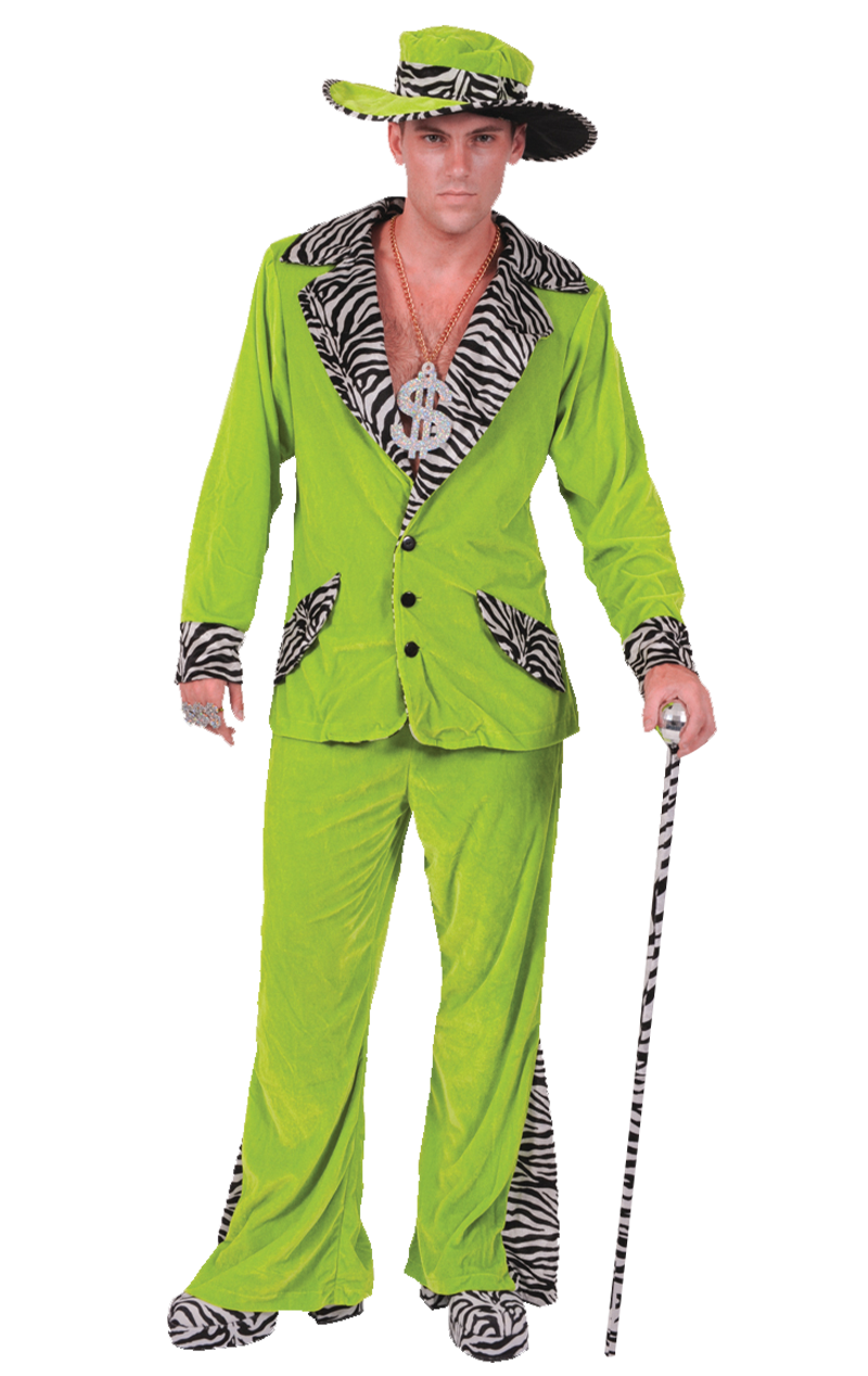 Adult Green Pimp Costume