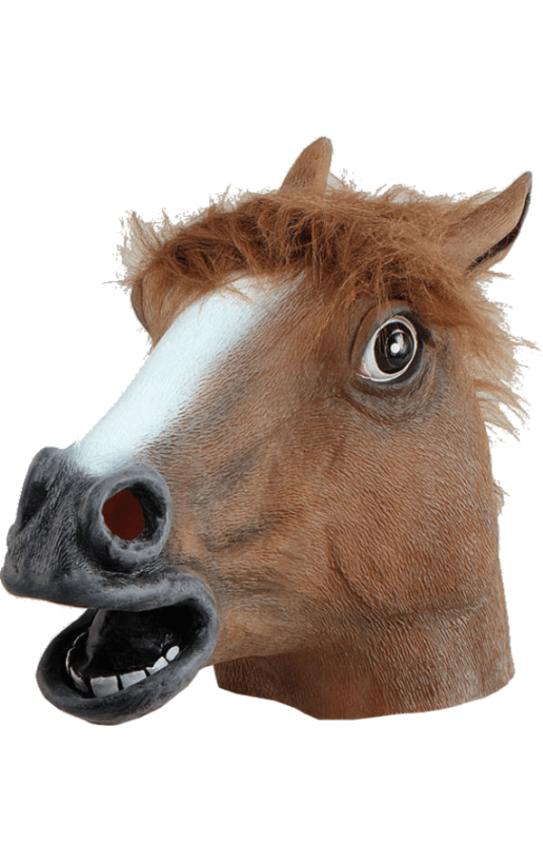 Brown Horse Facepiece Accessory