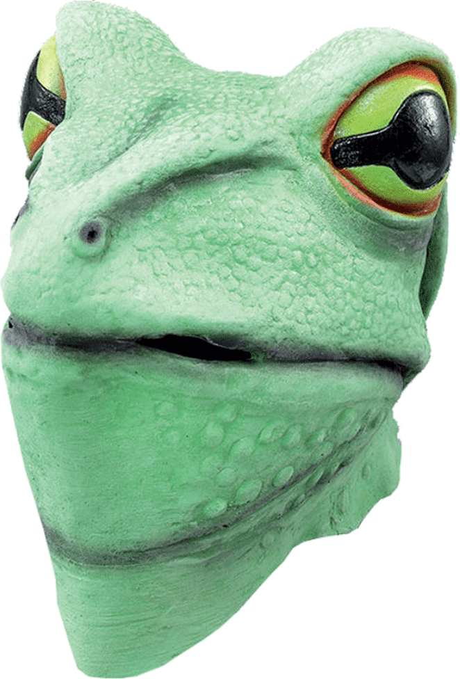 Latex Frog Facepiece