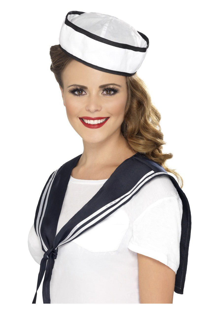Sailor Hat and Collar Set