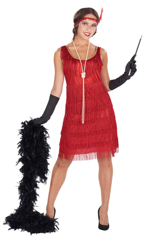 Adult 1920s Red Flapper Costume