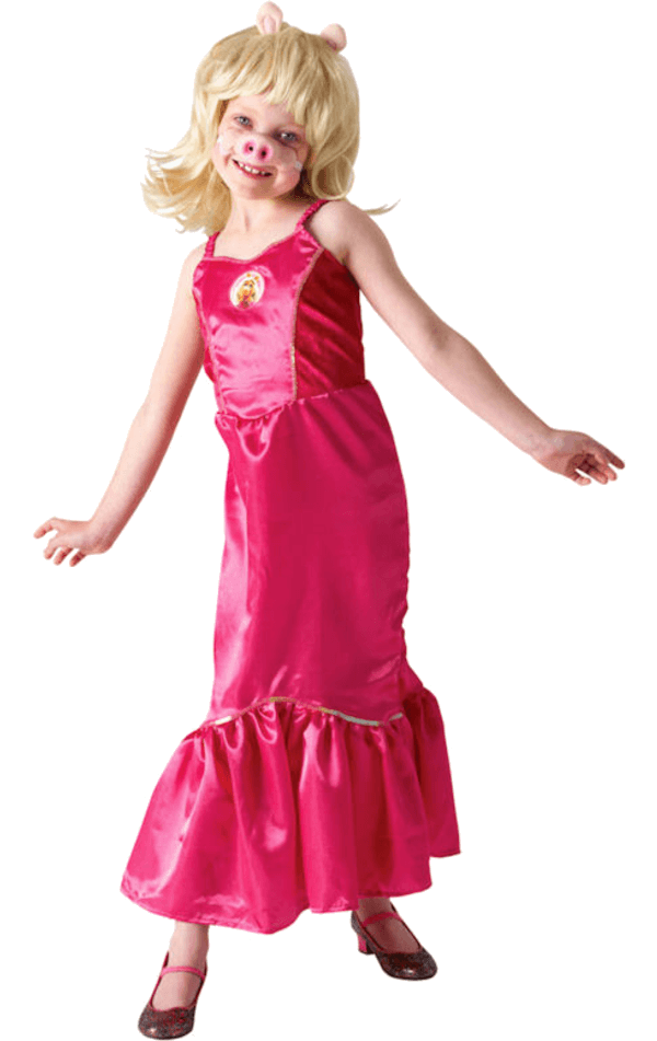 Kids Miss Piggy Muppets Costume