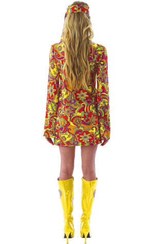 Ladies 60s Hippie Costume