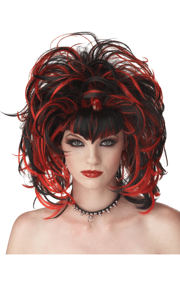 Red & Black Evil Sorceress Wig