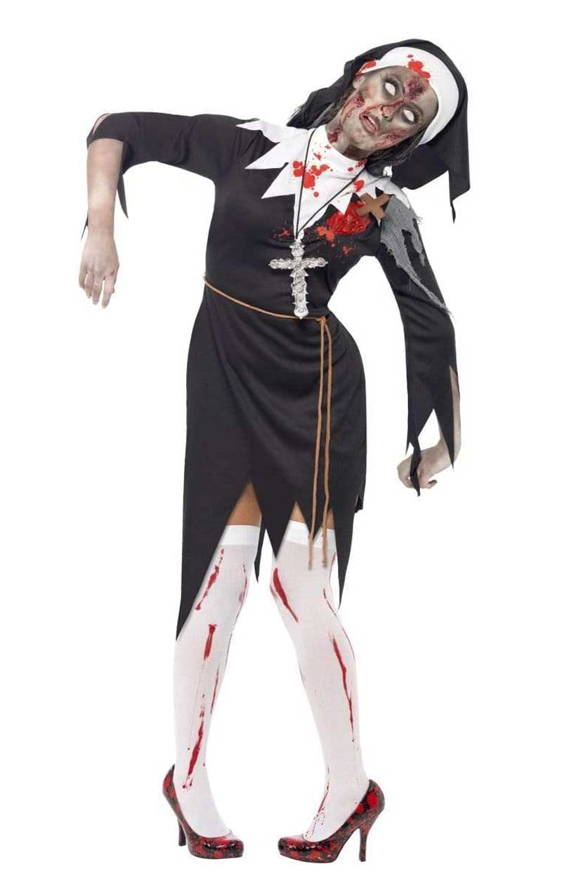 Halloween Zombie Nun Costume