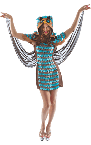 Womens Owl Dress Costume
