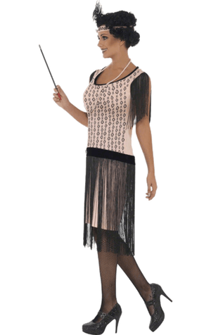 Pink Flapper Girl Costume