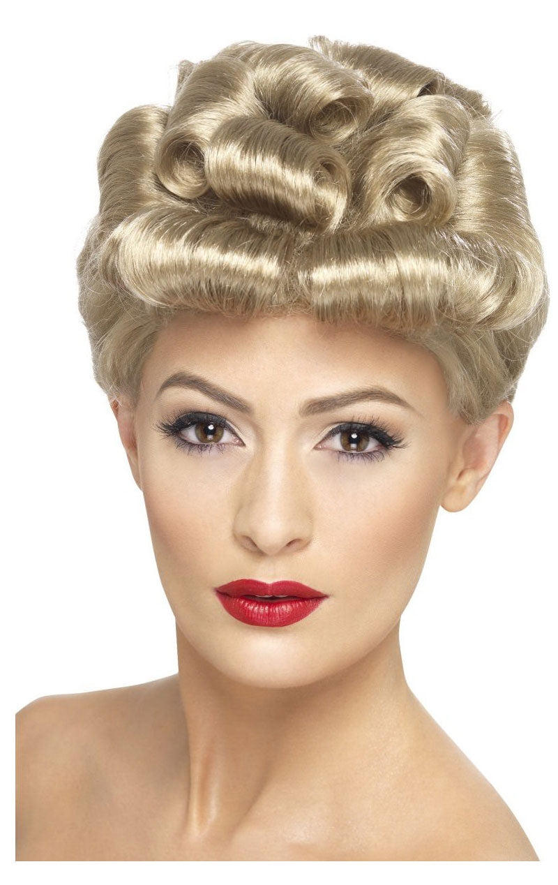 40s Light Blonde Wig Accessory