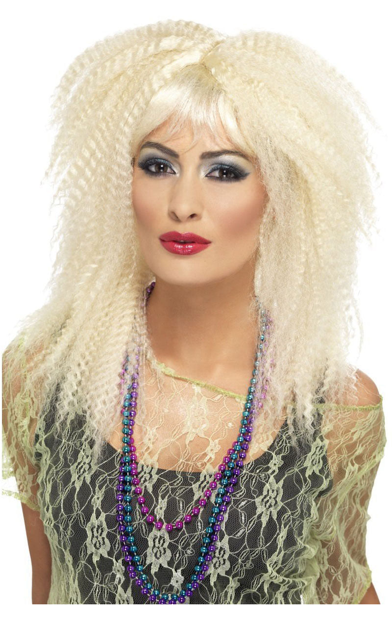 Crimped Blonde Wig