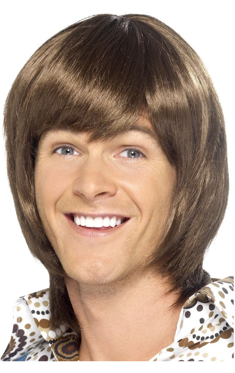 70s Popstar Brown Wig