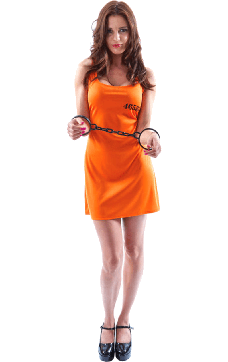 Ladies Orange Convict Dress