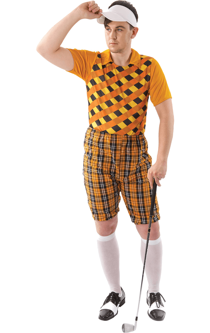 Mens Pub Golf Costume - Orange