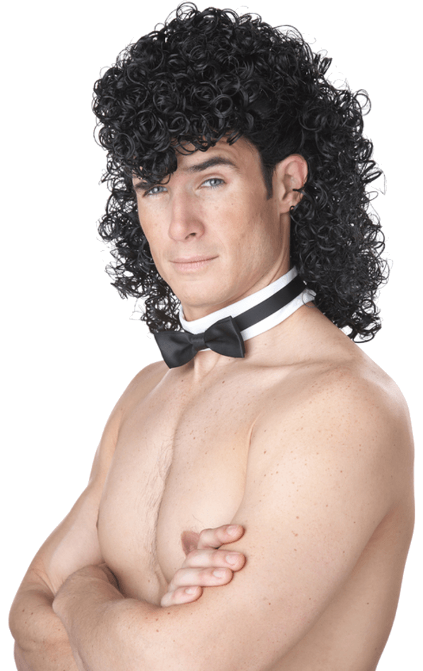 Male Stripper Wig & Collar
