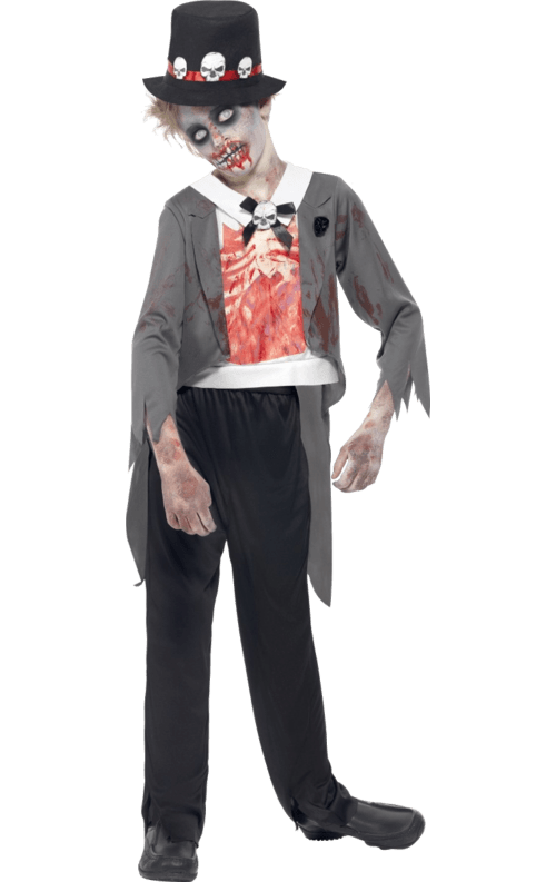 Kids Zombie Groom Costume