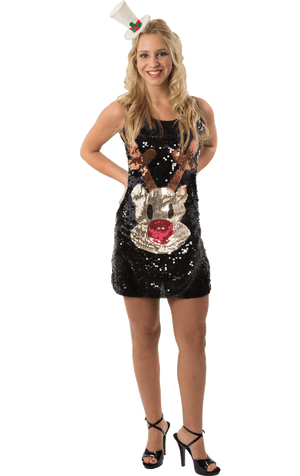 Adult Sequin Rudolph Dress
