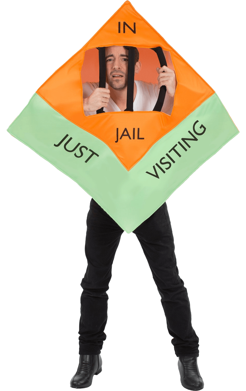 Adult Monopoly In Jail Costume