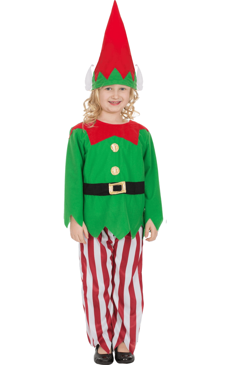 Kids Striped Elf Costume