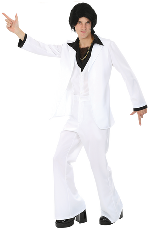 Adult 1970s White Suit Costume