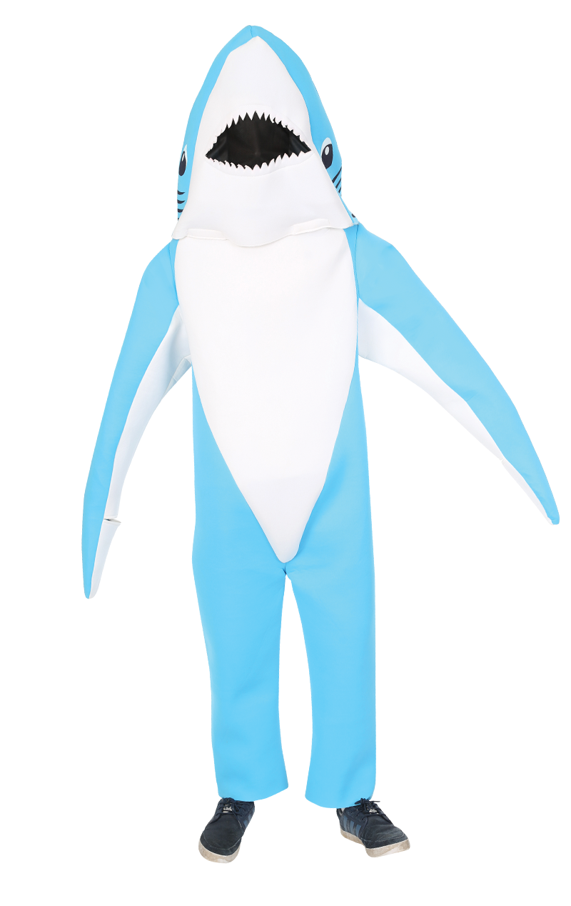 Adult Blue Super Bowl Shark Costume