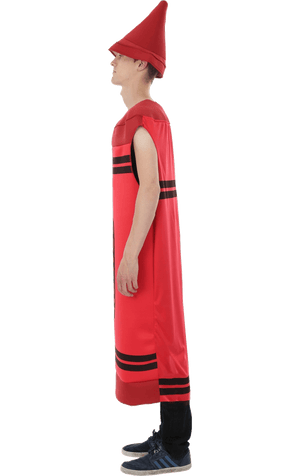 Adult Red Crayon Costume