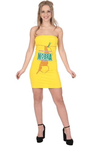 Womens No Bra Beer Costume