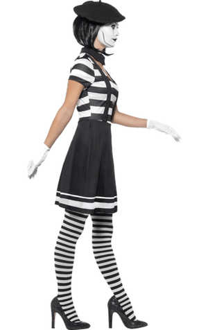 Womens Mime Artist Costume
