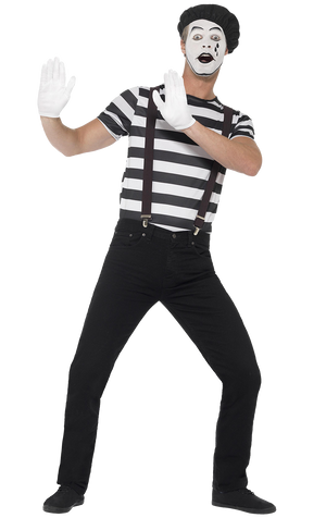 Mens Mime Artist Costume