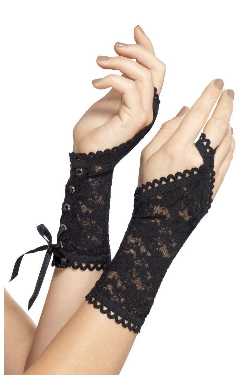 Black Lace Glovelets