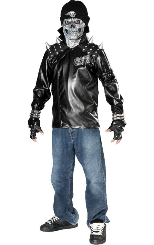 Kids Death Skull Biker Costume