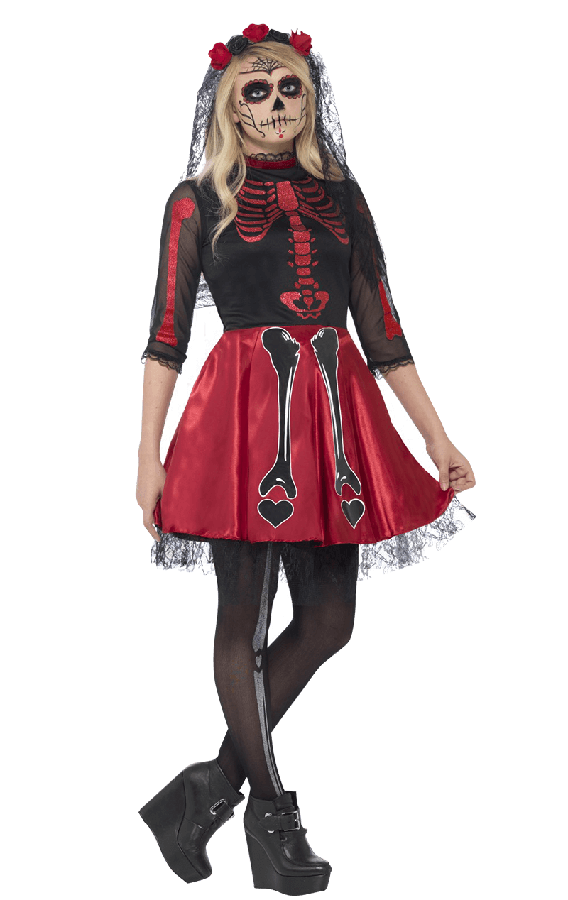 Teen Day Of The Dead Costume