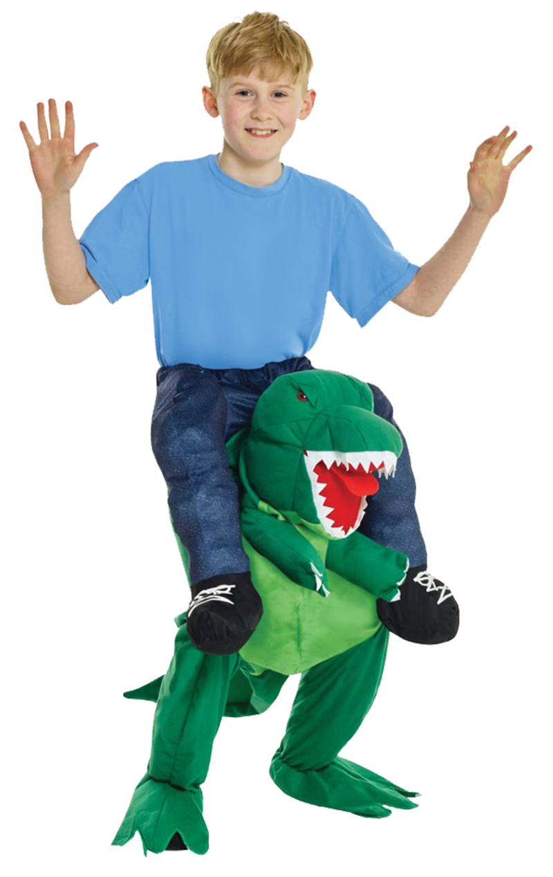 Kids T-Rex Piggyback Costume