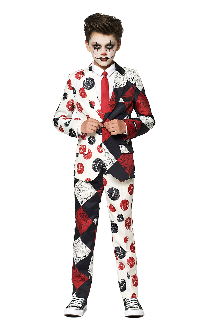 Kids Halloween Vintage Clown Costume